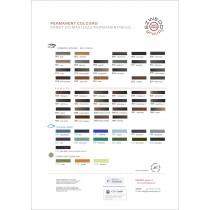 Karta kolorów farb/pigmentów do makijażu permanentnego